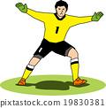 矢量 守門員 足球 19830381