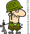 soldier cartoon illustration 19831735