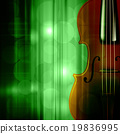abstract grunge music background with violin 19836995