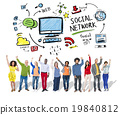 Social Network Social Media Diversity People Celebration Concept 19840812