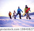 People Snow Boarding Winter Mountain Leisure Sport Concept 19840827