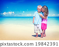 Boy Girl Playful Blowing Bubble Togetherness Concept 19842391
