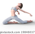 Young woman dancing perming3DCG illustration material 19846037