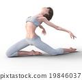 หญิงสาวกำลังเต้นรำอยู่ภาพประกอบของวัสดุ 3GGG 19846037