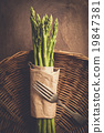 asparagus on a wooden background 19847381