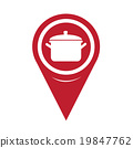 Map Pin Pointer pot icon 19847762