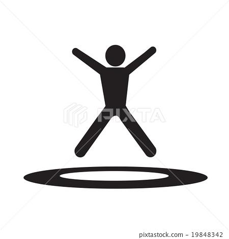 jumping Trampoline  icon Illustration design 19848342