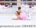 Little ballerina at ballet class 19848876