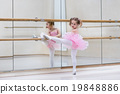 Little ballerina at ballet class 19848886