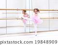 Little ballerina at ballet class 19848909