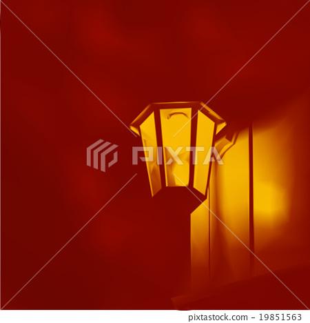 lamp street lights vector illustration background 19851563