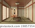 Japanese style room interior minimalist 19857354