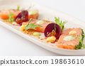 Smoked salmon in modern cuisine style 19863610