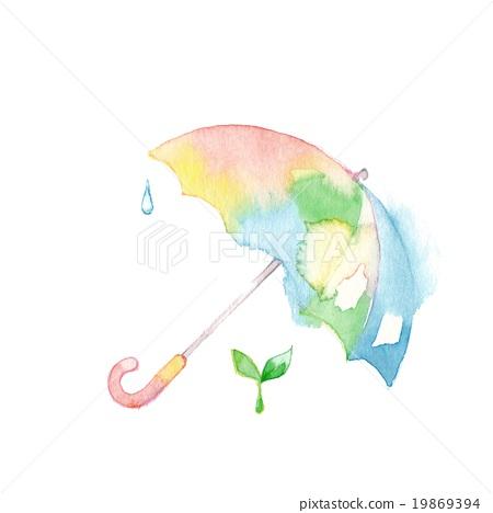 柔和的顏色遮陽傘和豆芽 19869394