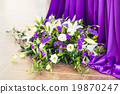 Reception Interior with beautiful  flowers in vase 19870247