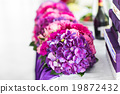 Reception Interior with beautiful  flowers in vase 19872432