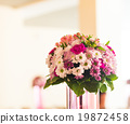 Reception Interior with beautiful  flowers in vase 19872458