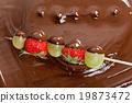 火锅 巧克力火锅 巧克力 19873472