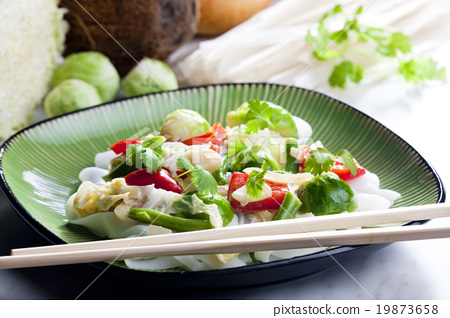 Asian vegetables on coconut milk 19873658