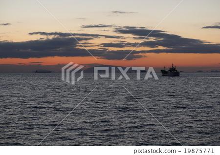 evening, blue water, marine 19875771