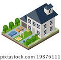 Isolated isomatic cottage.  19876111
