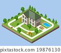 Isolated isomatic cottage. 19876130