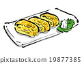 碟 卷煎蛋 日式煎蛋 19877385