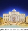 Trevi Fountain illuminated at night Rome, Italy 19878080