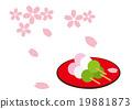 樱花 樱桃树 落樱如雪 19881873