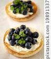 ブルーベリーとクリームチーズのマフィン(縦位置) 19891337