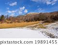 池塘 冰凍的 高山的 19891455