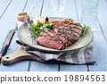 Point Steak on Plate 19894563