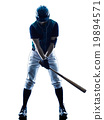 man baseball player silhouette isolated 19894571