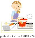 요리 태블릿 19894574