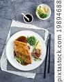 Salmon Teriyaki on Plate 19894688