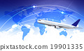 飛機 世界地圖 矢量 19901335