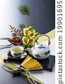 茶 茶杯 绿茶 19901695