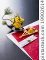 御节料理 年夜饭 为新年存储的食物 19902614