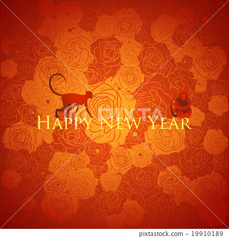 chinese new year background floral design vector