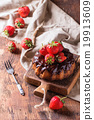 Chocolate cake with strawberries 19913609
