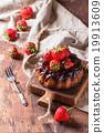 Chocolate cake with strawberries 19913609
