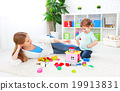 Mother and child daughter playing, build from constructor 19913831