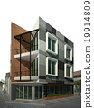 abstract sketch design of exterior building 19914809