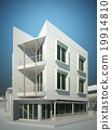 abstract sketch design of exterior building 19914810
