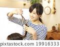 理发师 美发师 美女艺术家 19916333