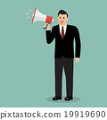 Businessman with a megaphone 19919690