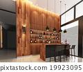 3d render of counter bar  19923095