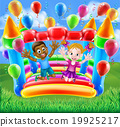 Kids Jumping on Bouncy Castle 19925217