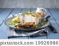 Barbecue Swordfish Steak on Plate 19926986