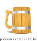Wooden beer mug on isolated background 19931166